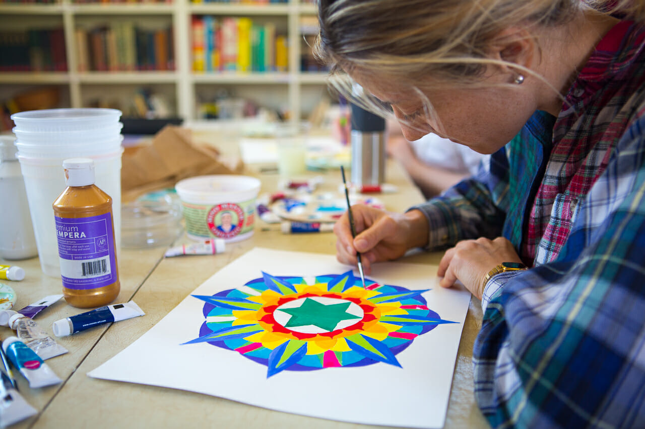 Yantra Painting at the Sivananda Yoga Ranch