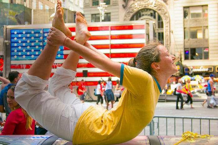 "<div style=""font-family: catamaran; color: #ffffff"">Sivananda Yoga Vedanta Center</br><span style=""font-size: .8em"">New York, NY   United States</span></div>"