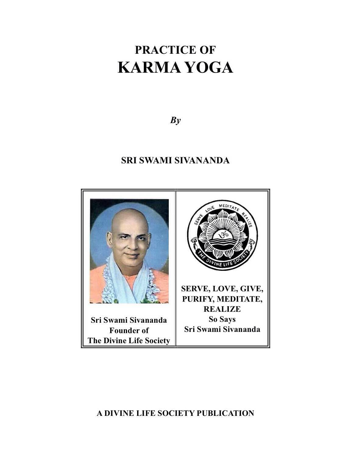 Practice of Karma Yoga