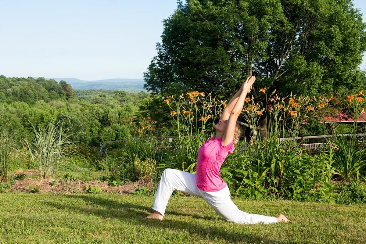 Yoga, stress, and food at the Sivananda Yoga Ranch
