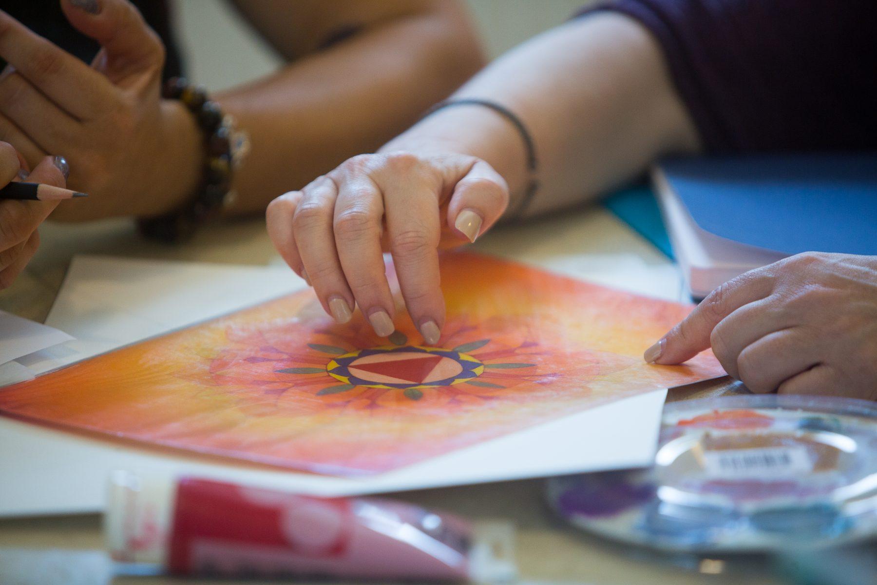 Chakra Mandala Painting at the Sivananda Yoga Ranch