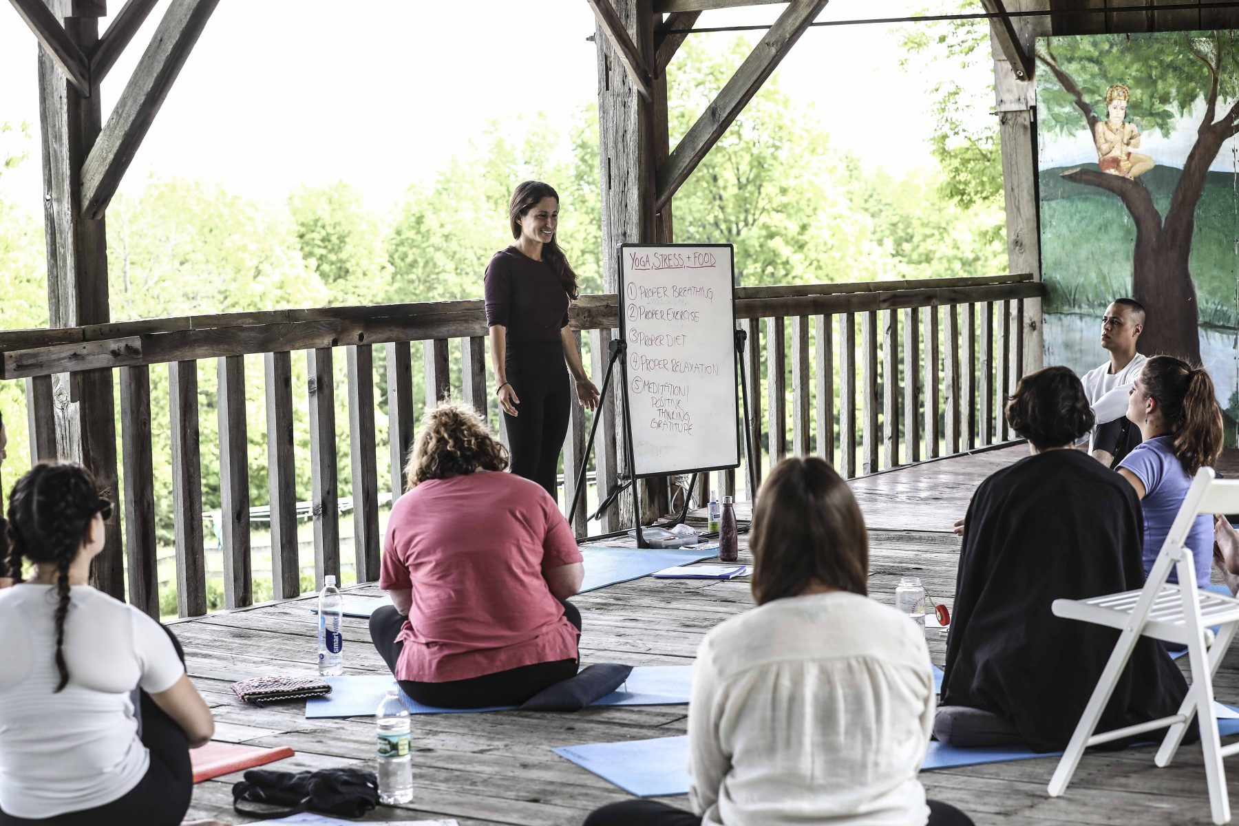 Yoga, Stress, & Food at the Sivananda Yoga Ranch